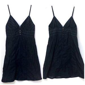 •7FAM• Spaghetti Strap Jean Dress Medium